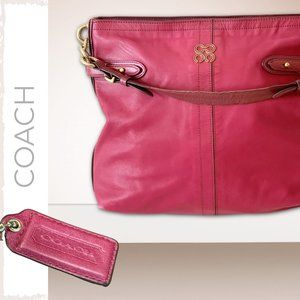 COACH Hot Pink Leather Hobo Bag